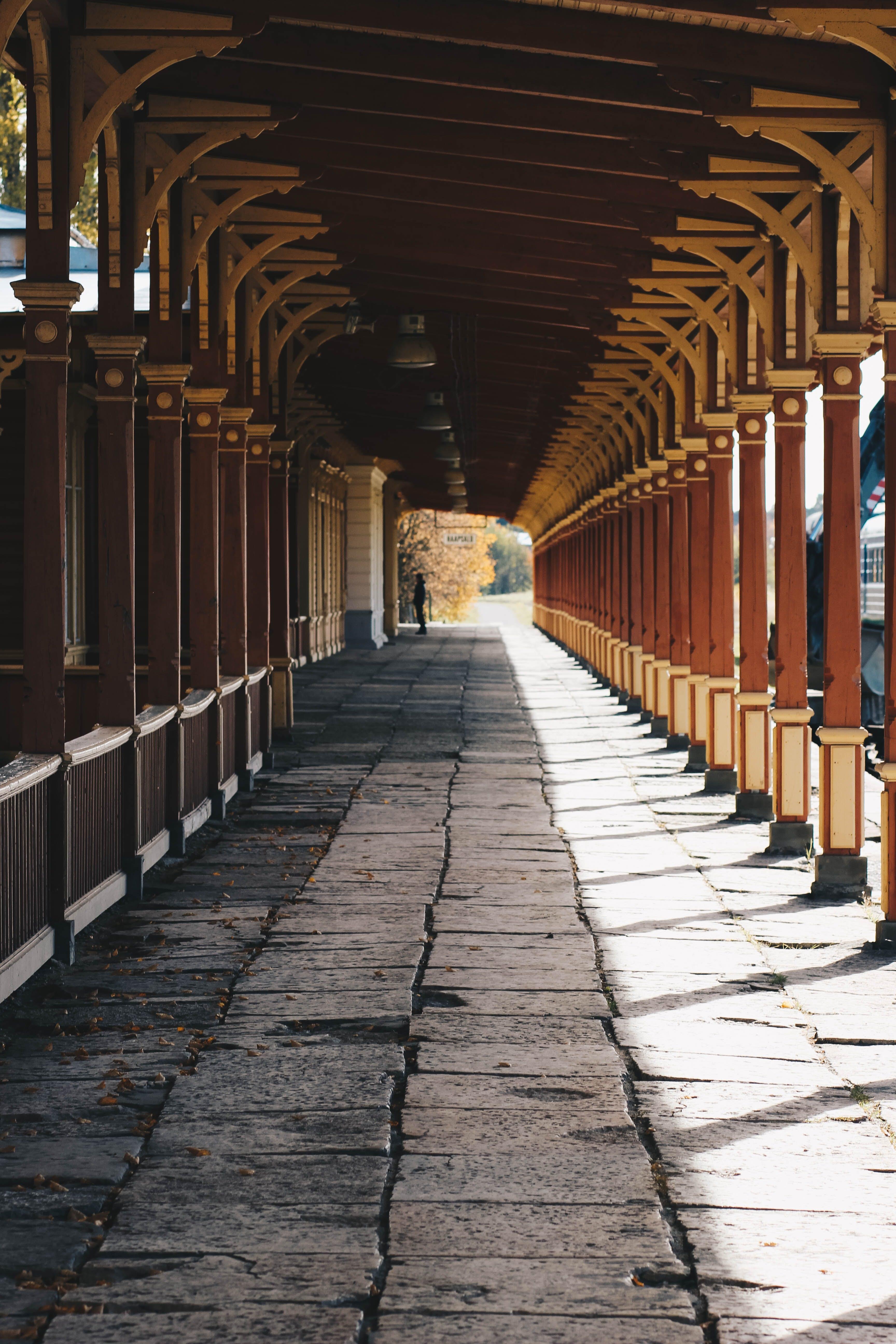 Brown and Black Walkway