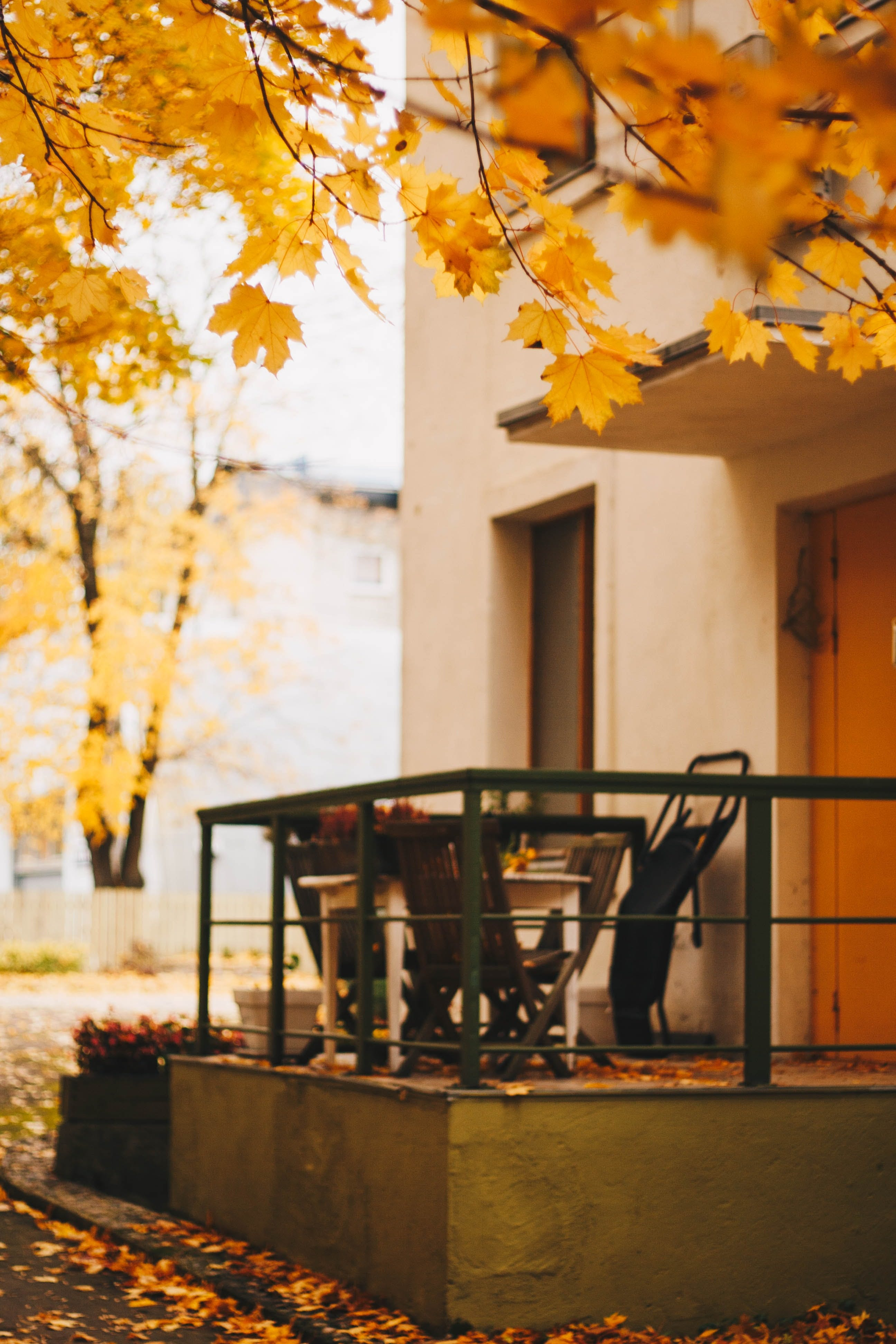 Selective Focus Photography of Patio Set