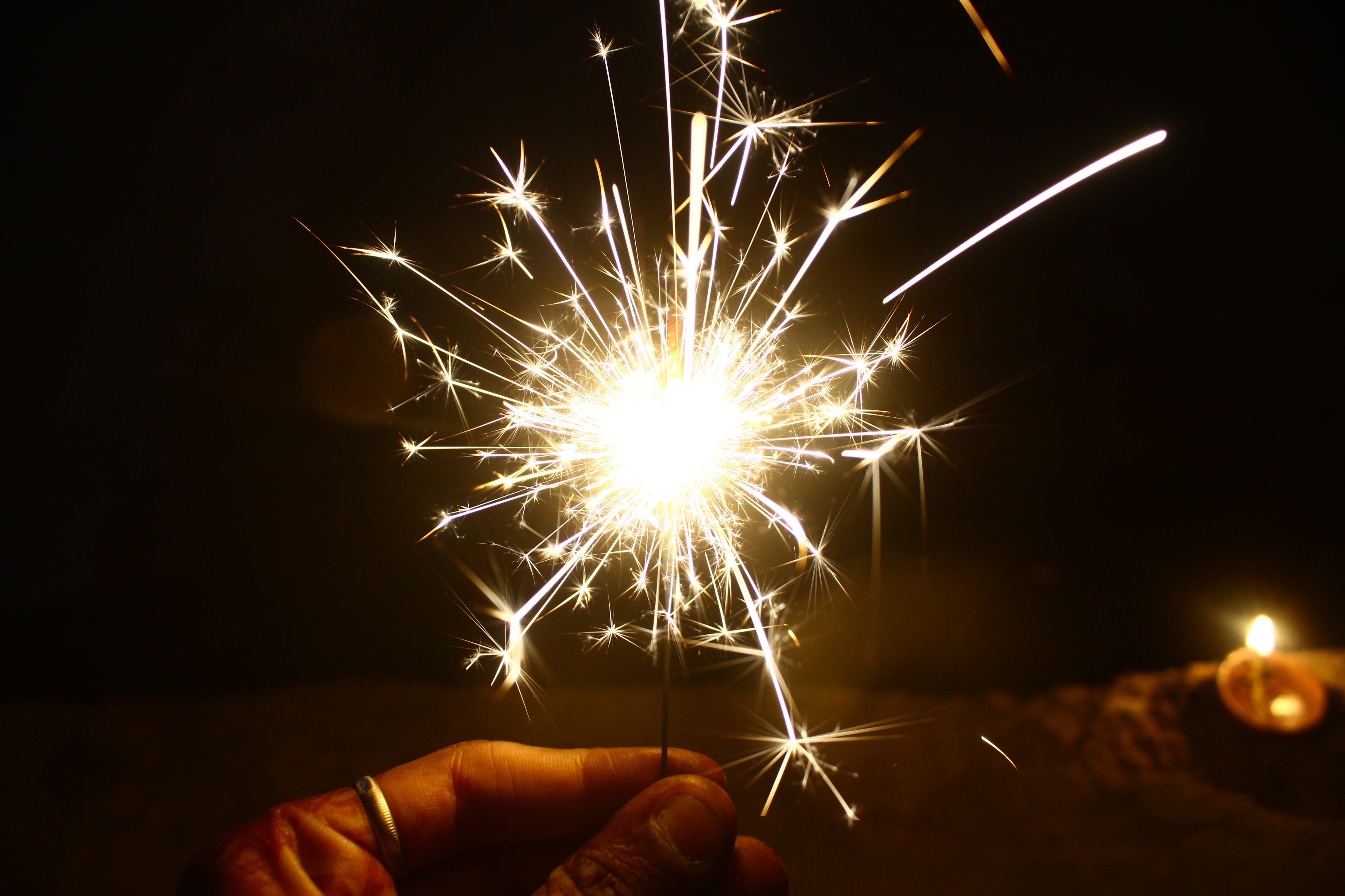 Person Holding Firework