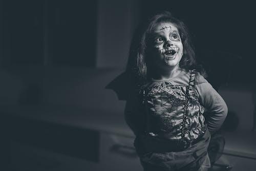 Ingyenes stockfotó arcfestés, gyermek, halloween, kosztüm témában