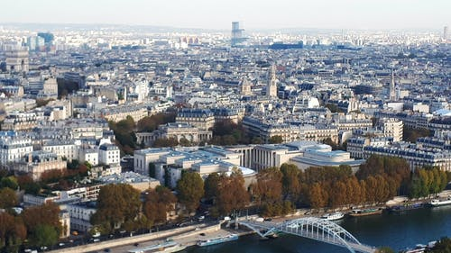 Free stock photo of Paris from the air