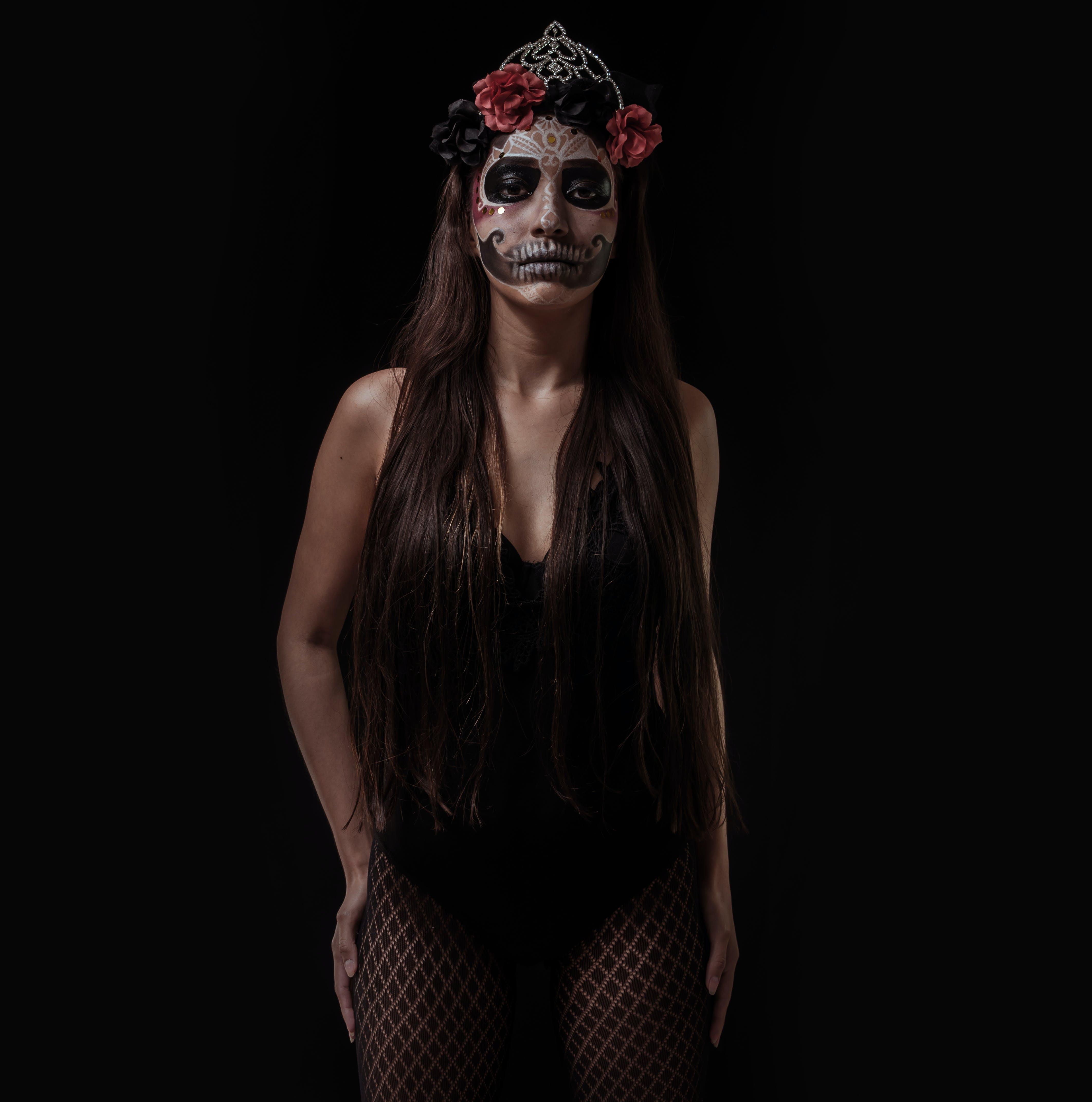 Woman in Black Monokini