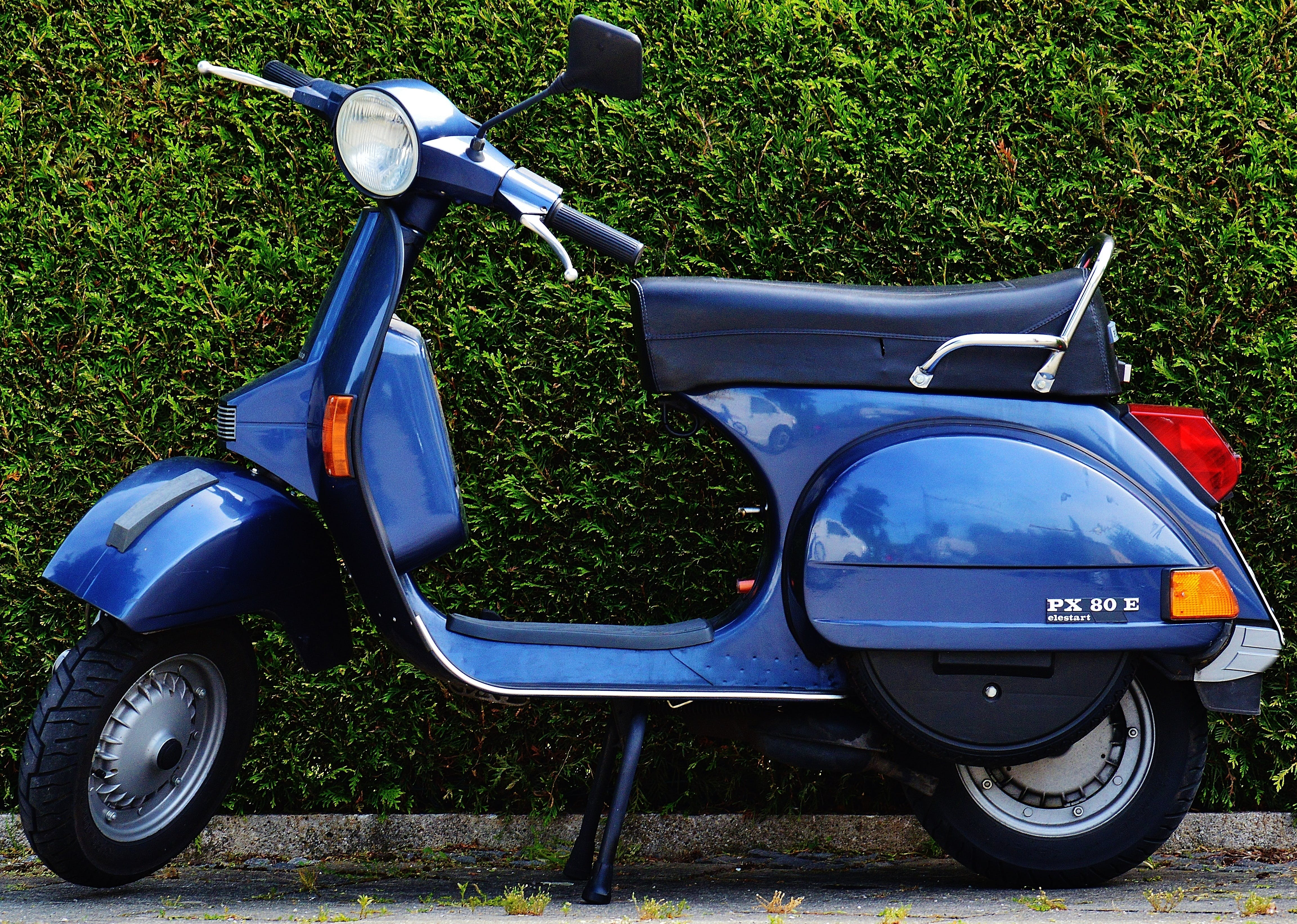 Blue Motor Scooter Px 80 X