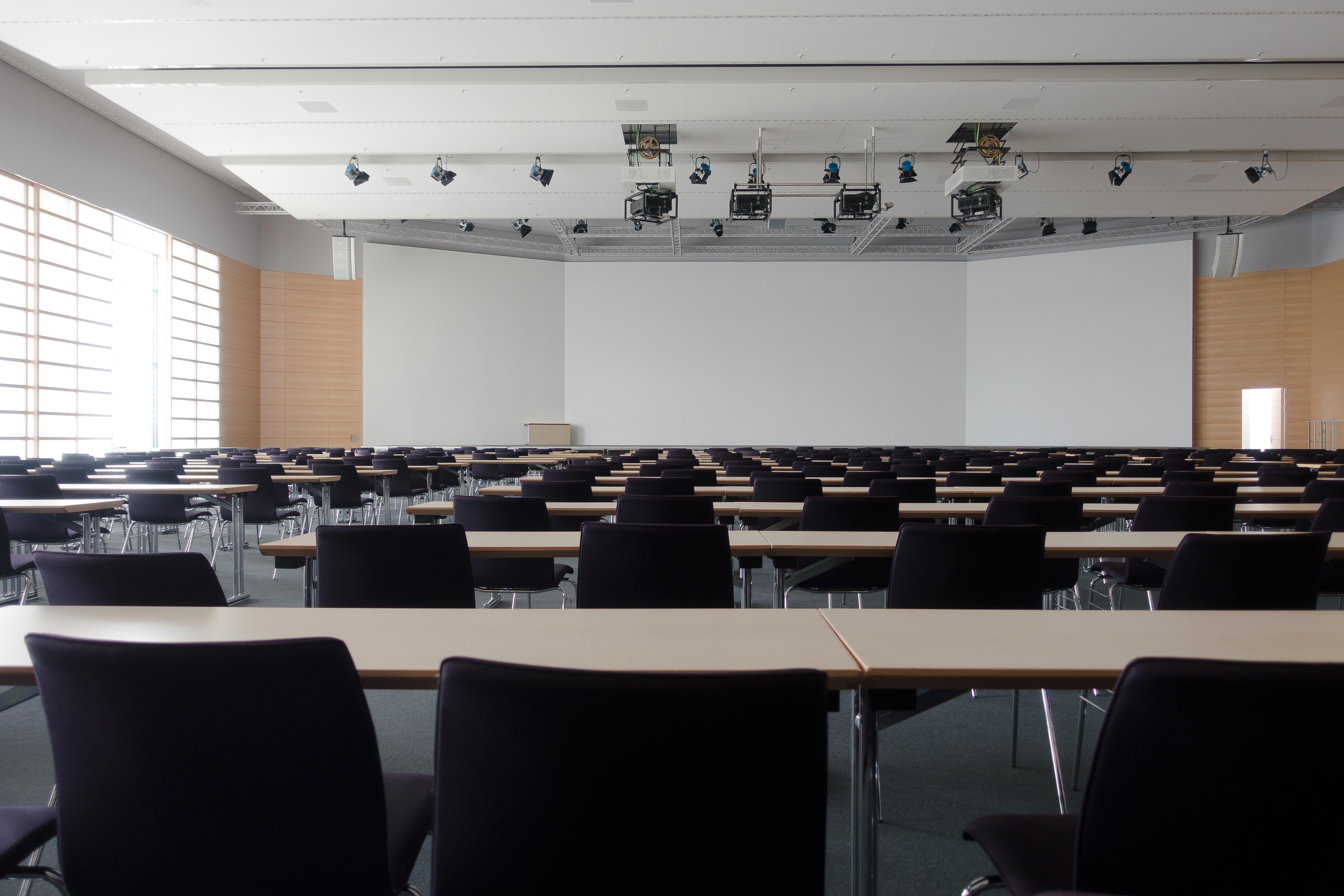 An empty training room.