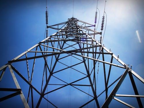 Fotobanka sbezplatnými fotkami na tému elektrická energia, elektrické vedenie, infraštruktúra, perspektíva