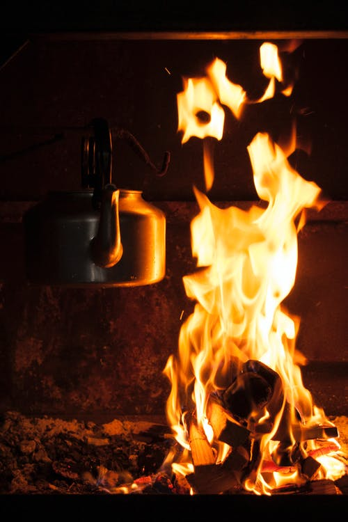 Photo of Kettle over Flames