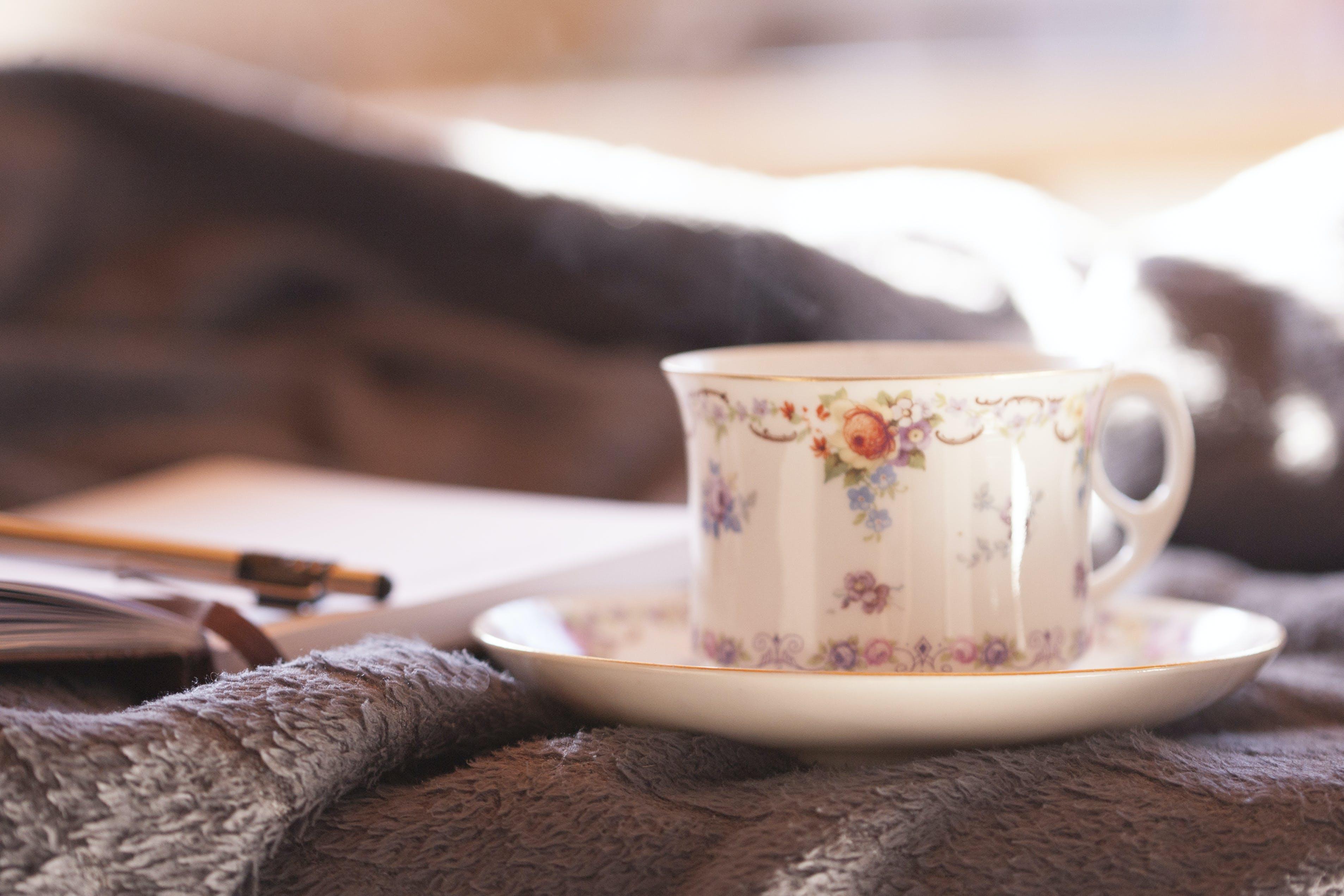 Close-Up Photo of Teacup And Saucer