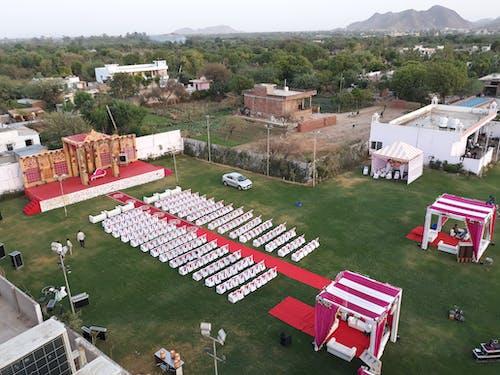 Základová fotografie zdarma na téma demonstrační eskadra, dron skamerou, indická svatba, pohled zdronu