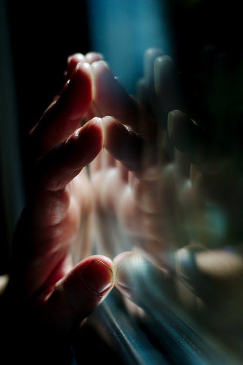 กระจก, การสะท้อน, คน