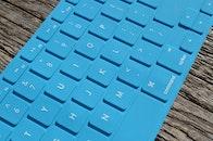 blue, desk, typing