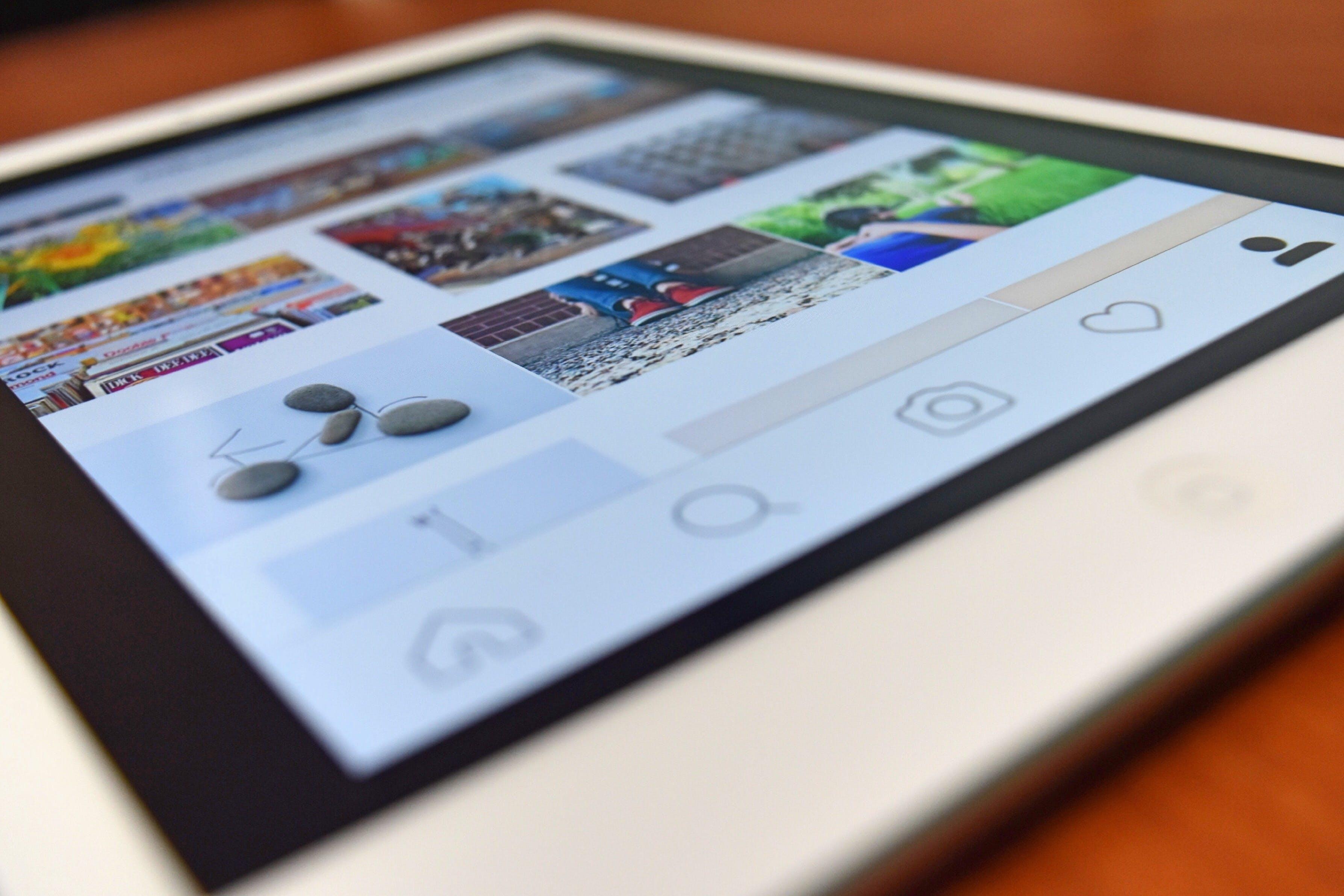 Kostenloses Stock Foto zu apfel, bildschirm, gerät, instagram