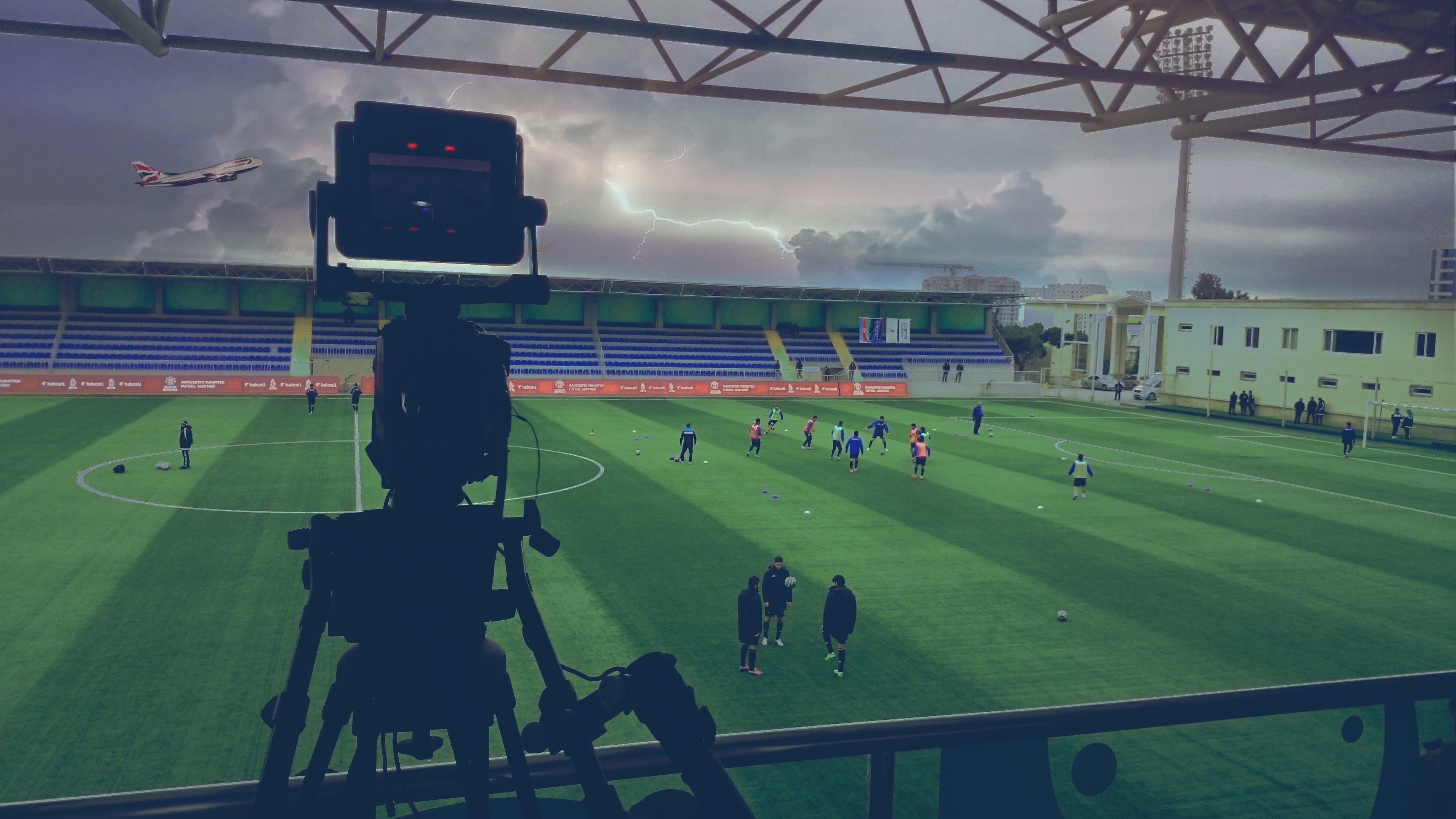 Free stock photo of broadcast, broadcast camera, camera, football