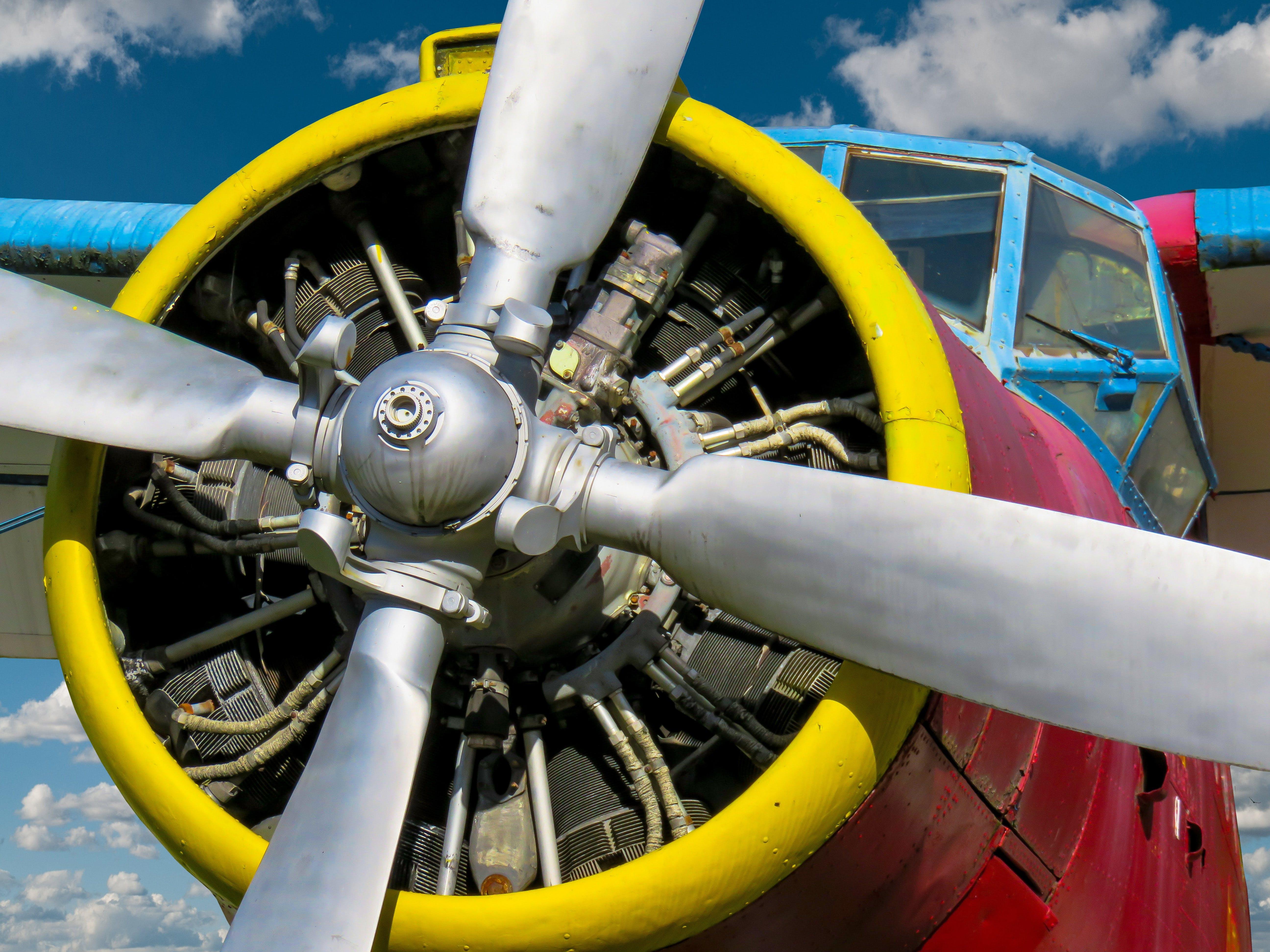 Gray Airplane Propeller