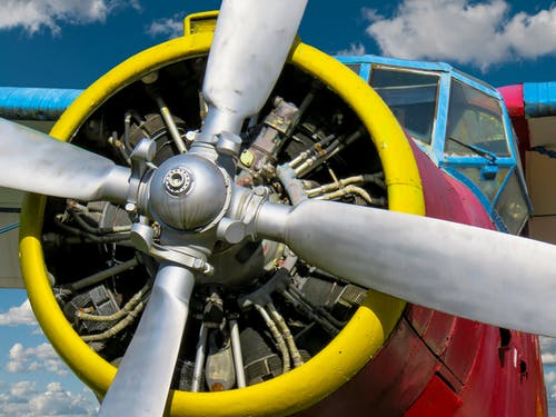 Gratis stockfoto met close-up, luchtvaart, motor, propeller