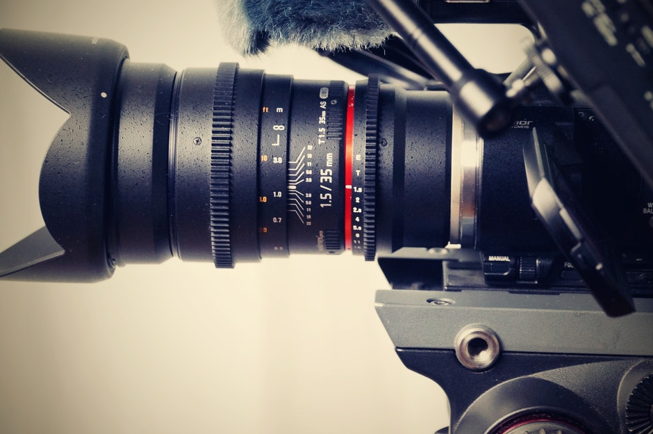 Black Camera Zoom Lens in Close Photography