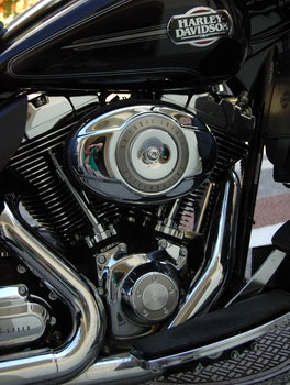 Harley Davidson Cruiser Motorbike