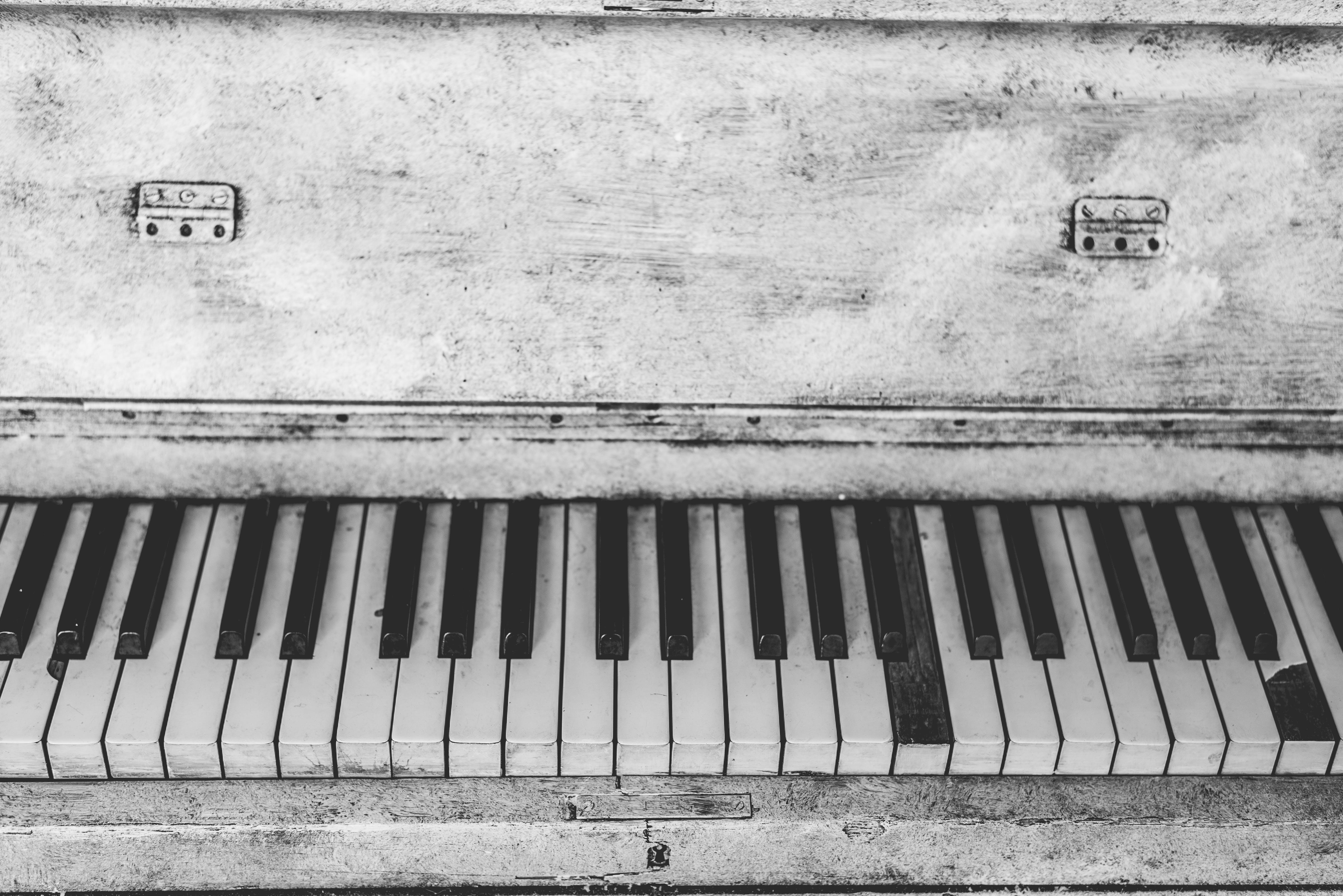 Black and White Upright Piano