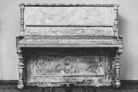 black-and-white, piano, antique