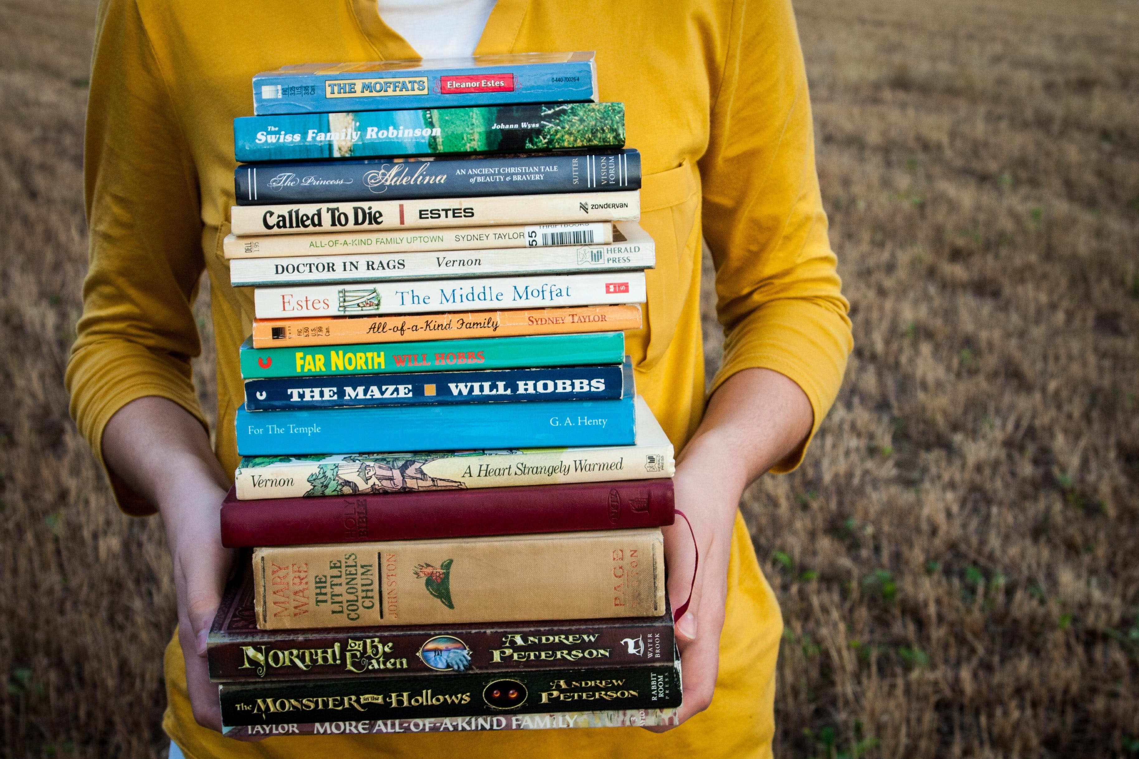 Free stock photo of biography, book stack, books, classics