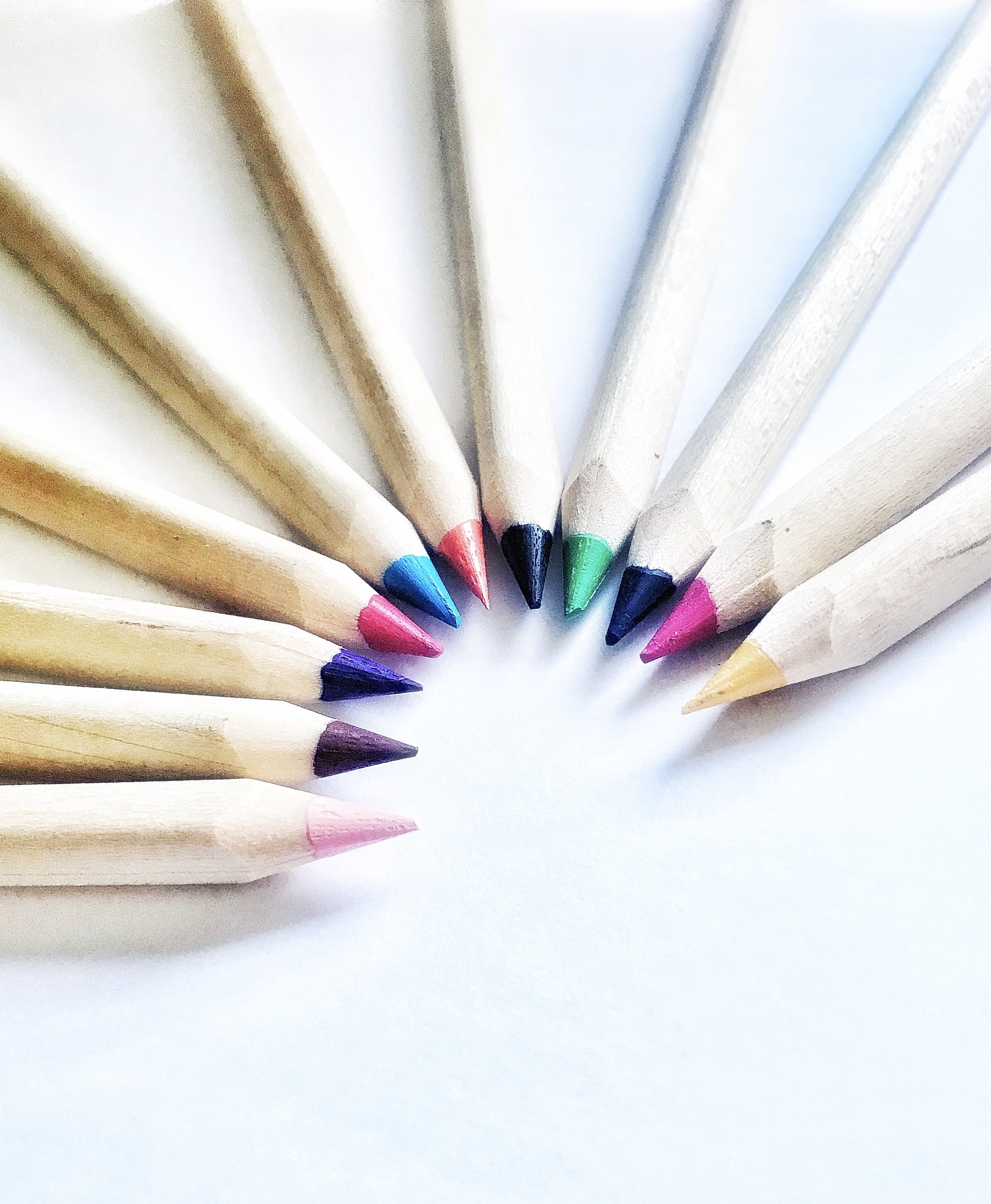 Kostenloses Stock Foto zu farbe, farbstiften, helle farben