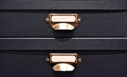 Black 2 Drawer of Dresser Close Up Photography