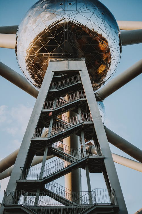 Worm's-eye View of the Atomium
