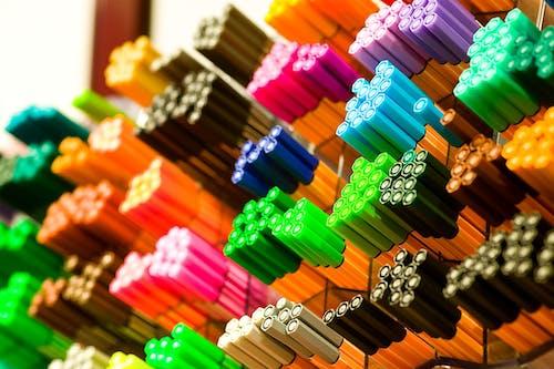 다채로운, 매크로, 컬러 펜, 펜의 무료 스톡 사진
