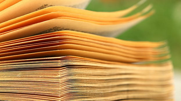brown paper book - Book Pages