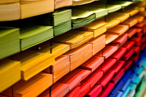 Multi Colored Folders Piled Up