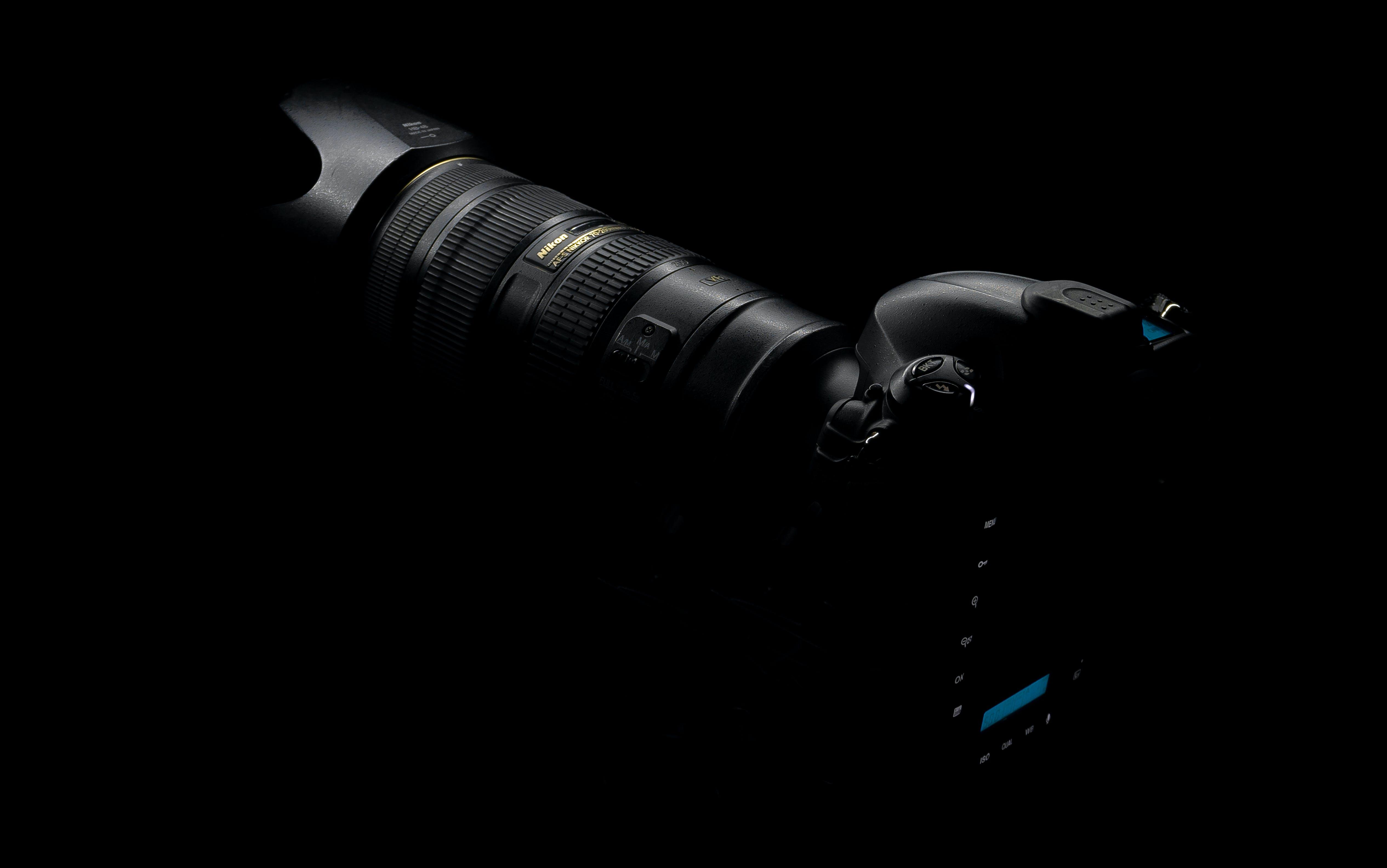 Free stock photo of 70-200, black and white, camera, camera equipment