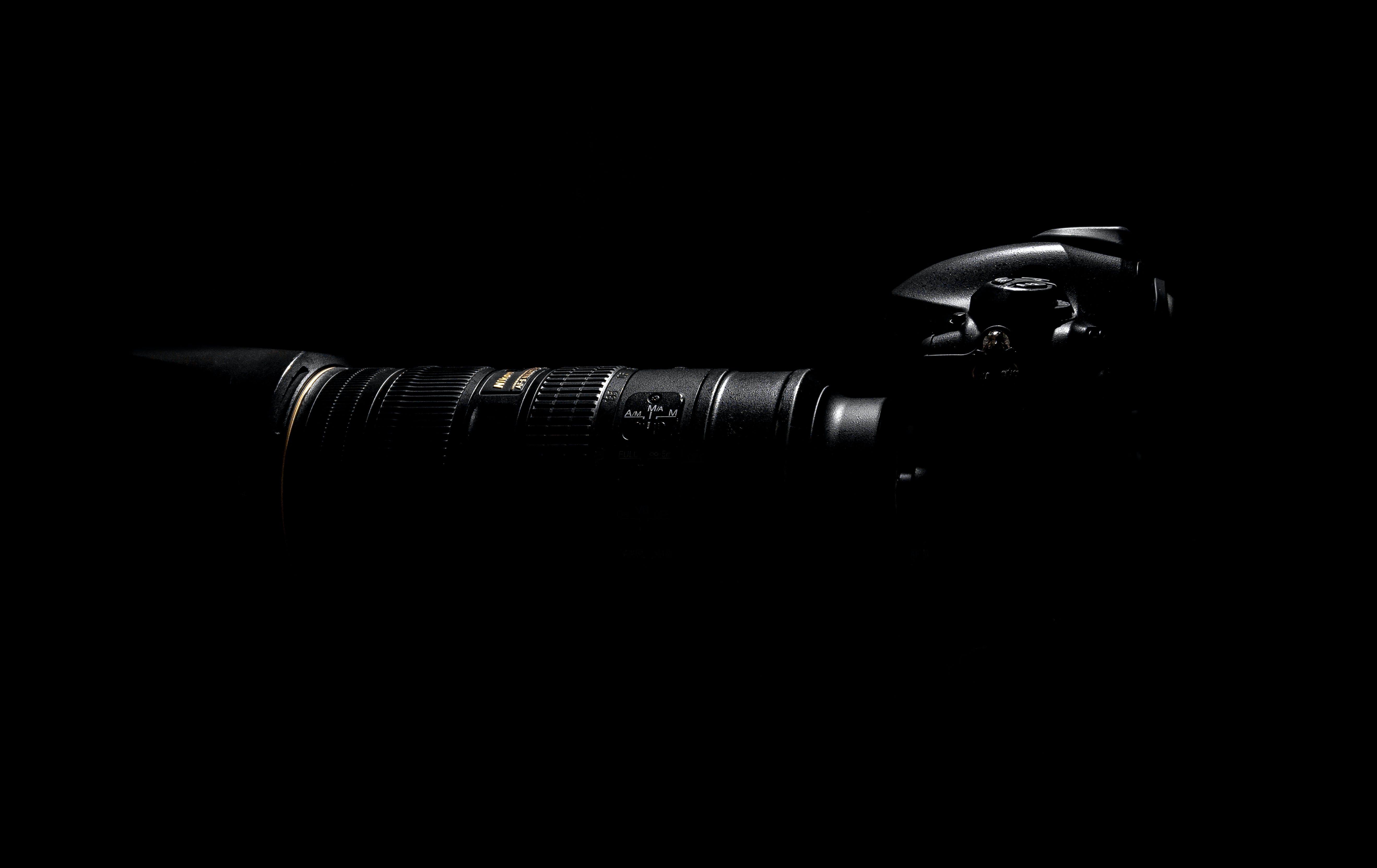 Top View Photo of Black DSLR Camera