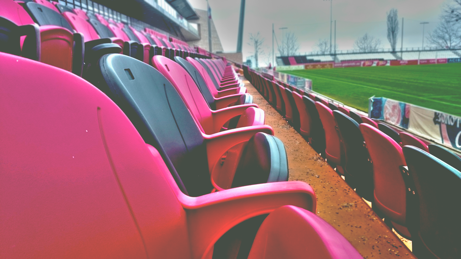baseball, bleachers, chairs
