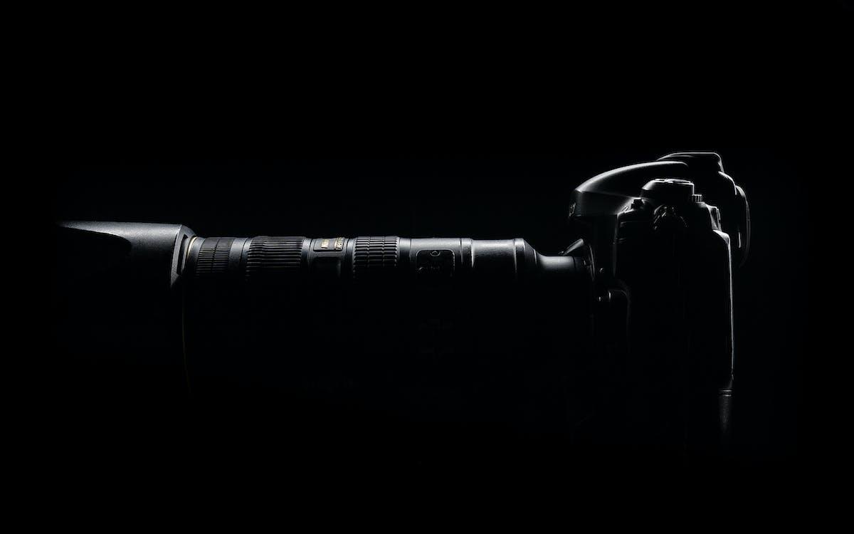 bočný pohľad, DSLR, DSLR fotoaparát