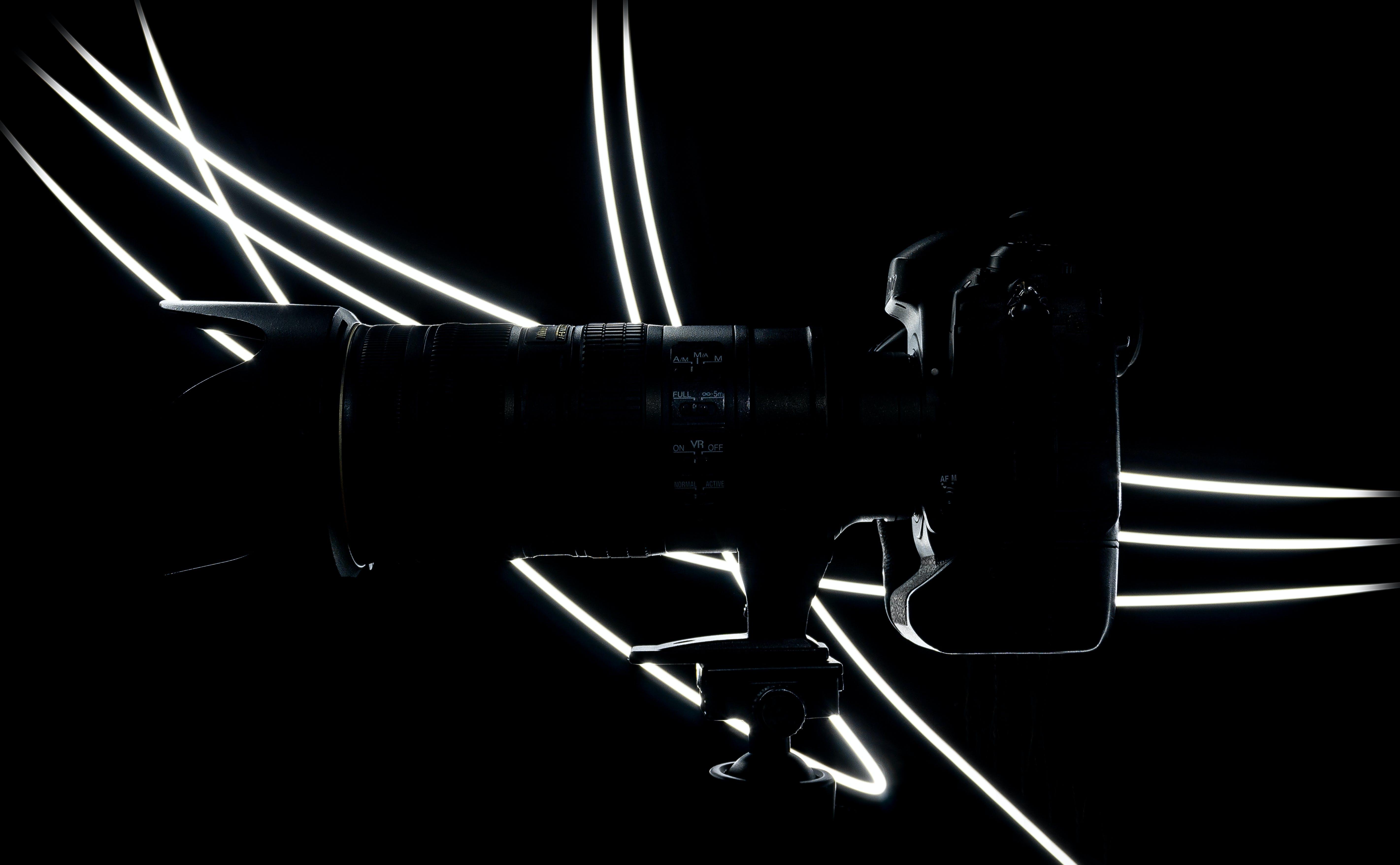 Side View Photo of Black Dslr Camera