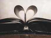 love, heart, book