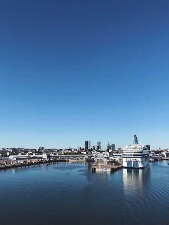 arkitektur, båthavn, by