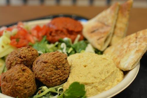 Free stock photo of falafel, pita bread, vegan