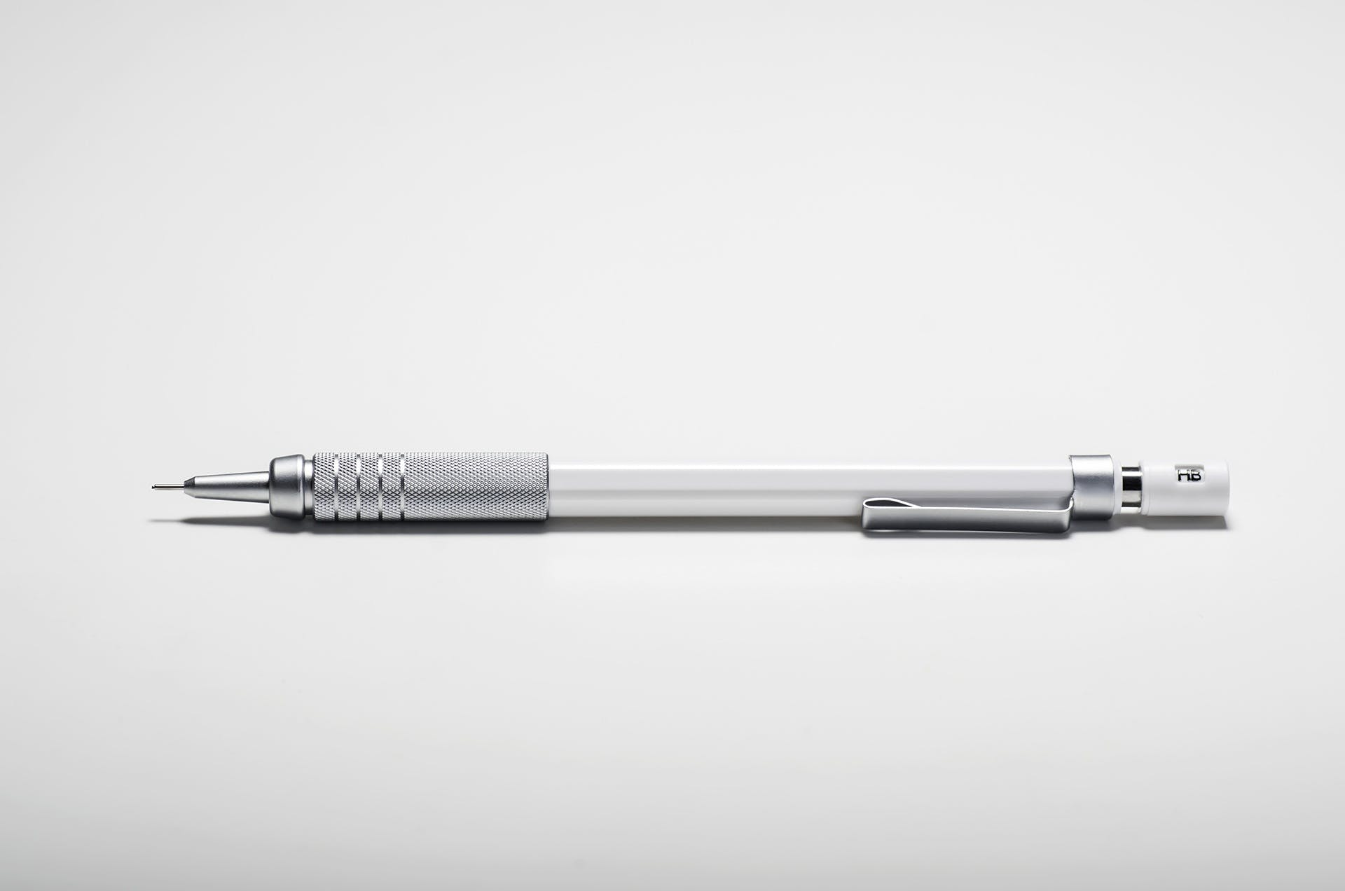 Gray White Click Pencil