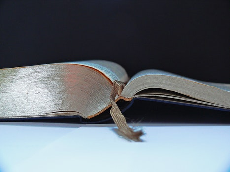 Gray Book With Gray Lace Bookmark