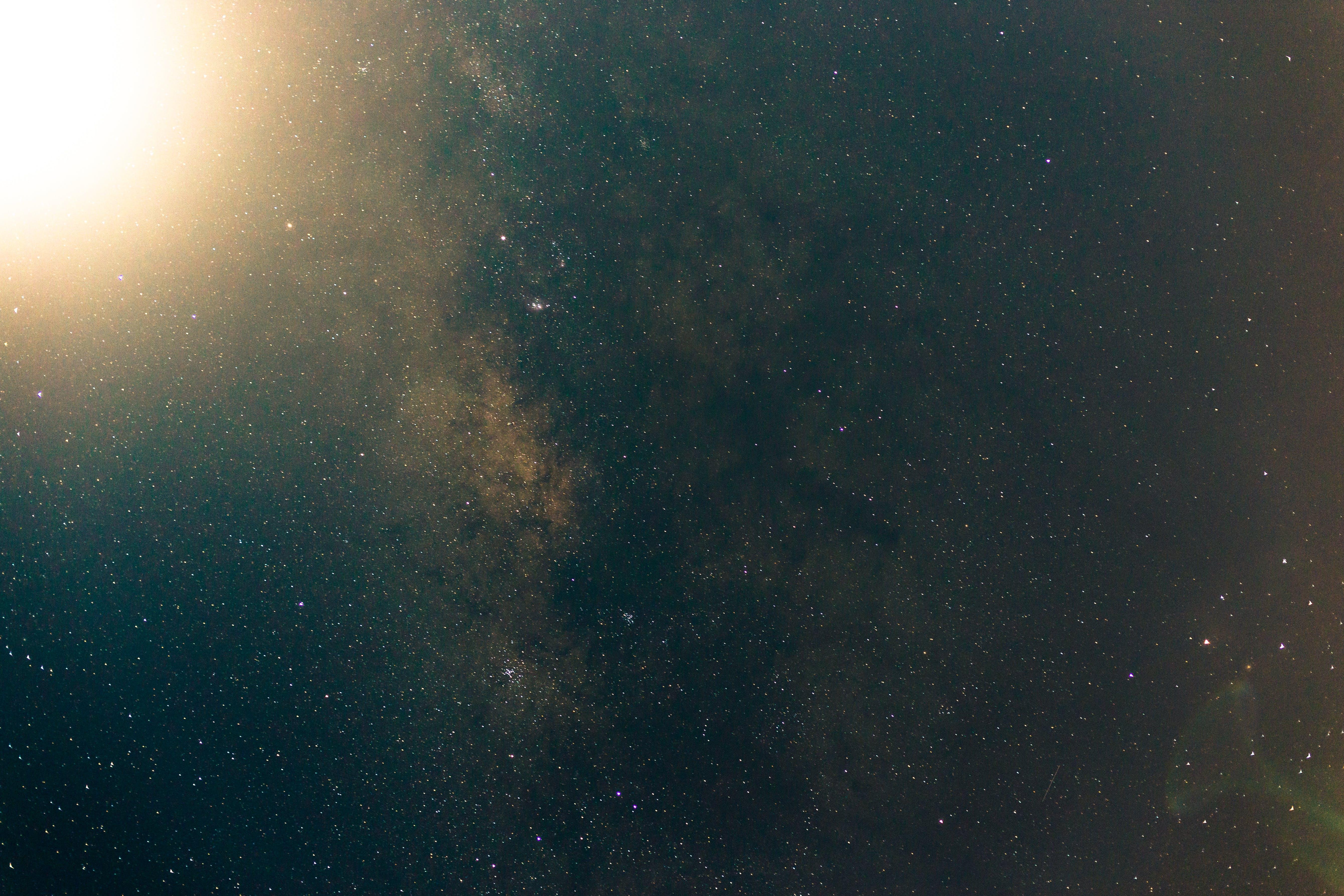 moom, 空間, 銀河, 長時間曝光 的 免費圖庫相片