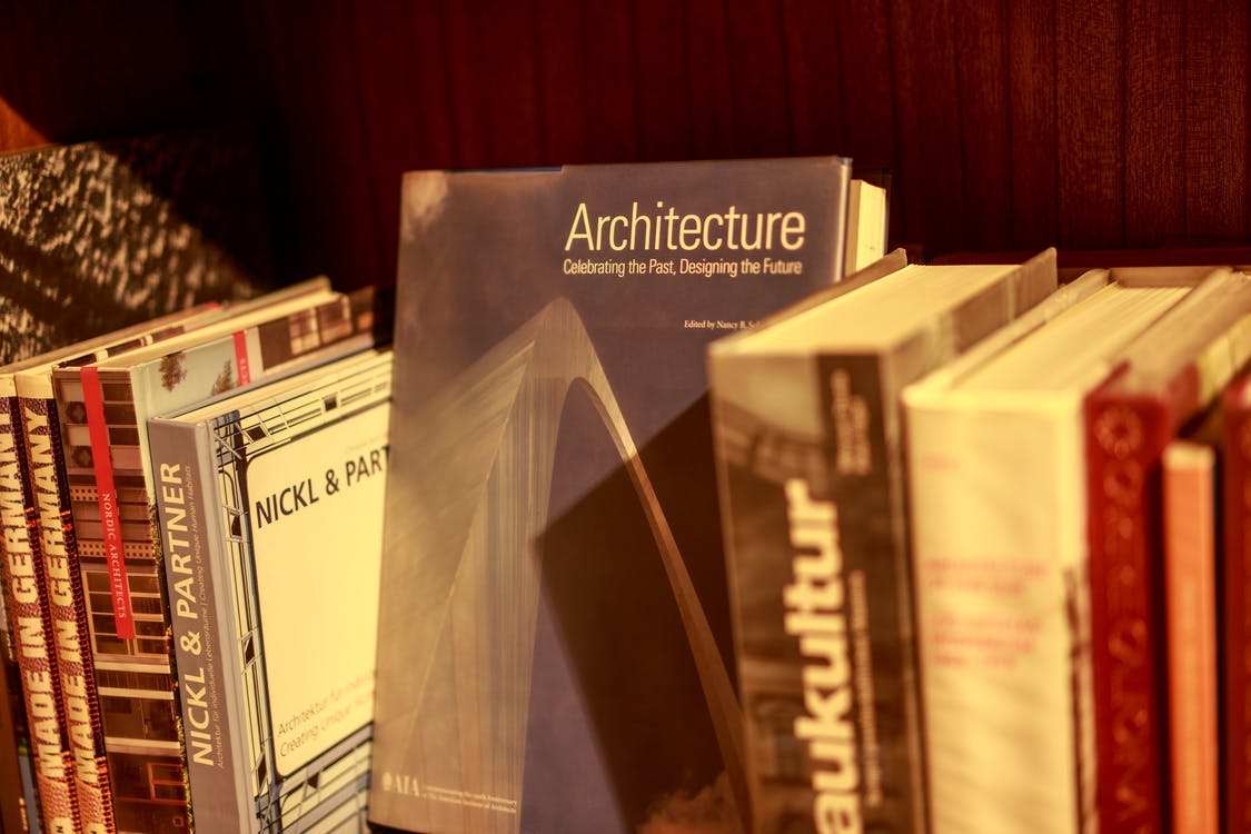 Architecture Hardback Book on Shelf