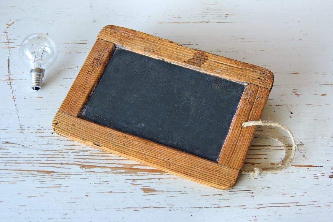 antiek, blackboard, blackbord