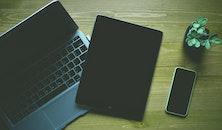 apple, iphone, desk