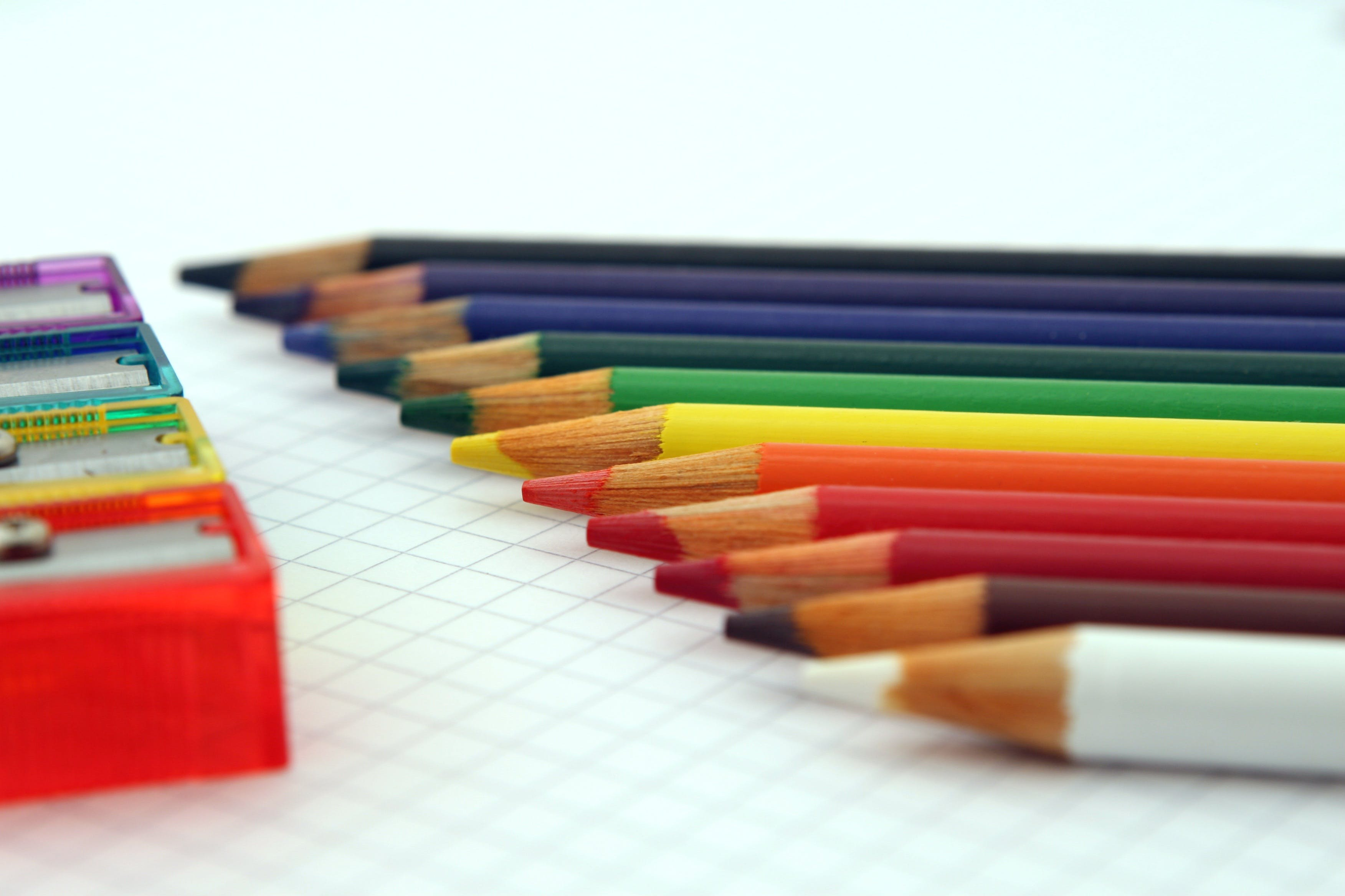 Close Up Photography of Coloring Pencils