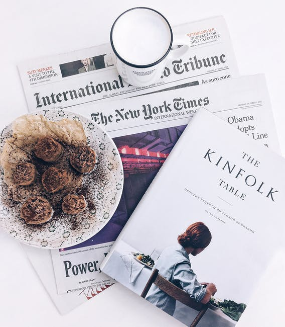 Kitchen Table Democracy: The Kinfolk Table Book Beside Baked Pastry On White