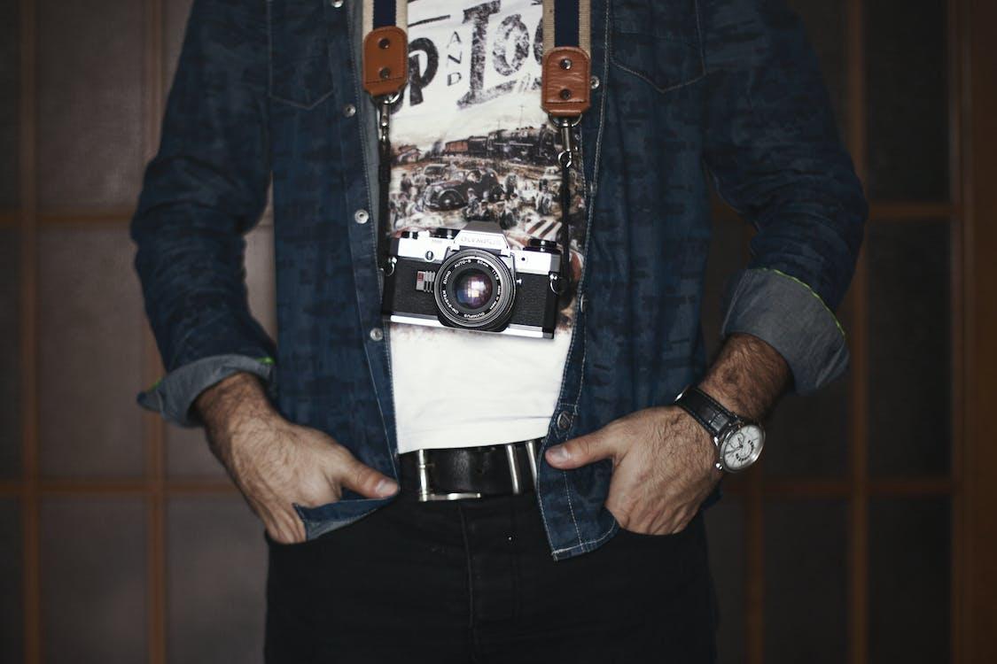 aparat, dorosły, fotograf