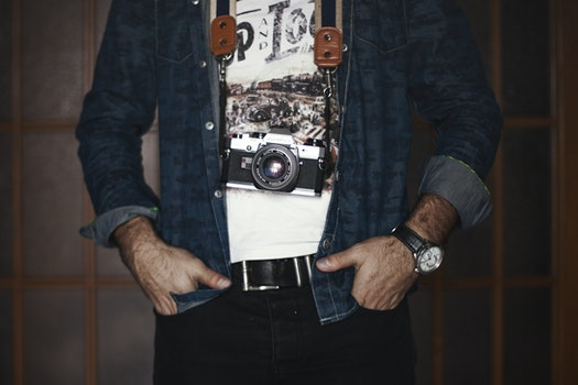 Free stock photo of fashion, man, person, camera