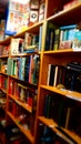 books, library, depth of field