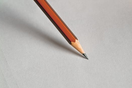 A photo of a pencil