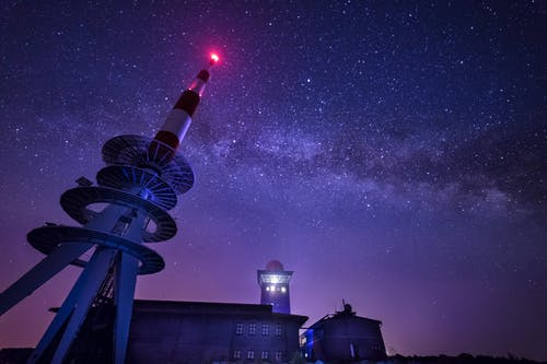 건물, 경치, 등대, 밤의 무료 스톡 사진